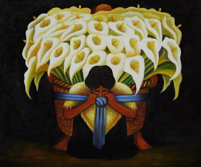 El Vendedor de Alcatraces by Diego Rivera OSA116